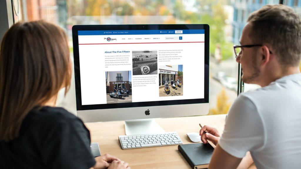 example of website design - www.the515.co.uk